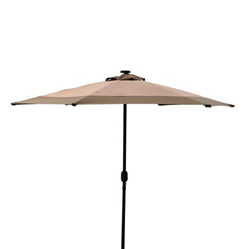 Led Umbrella Amazon: Outdoor Umbrella With Solar Lights : Funk This House