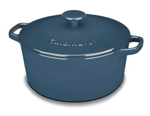 Cuisinart CI650-25BG Chef's Classic Enameled Cast Iron 5-Quart Round Covered Casserole, Provencal Blue (Cuisinart 5qt compare prices)