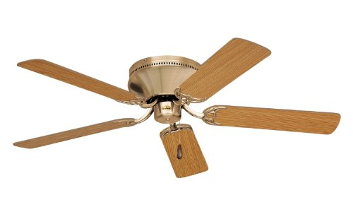 Emerson Cf805Sab Snugger Indoor Ceiling Fan, 52-Inch Blade Span, Antique Brass Finish And Light Oak/Medium Oak Blades front-548563