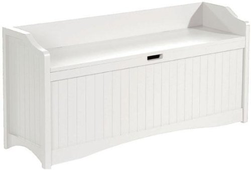Brilliant Madison 48W Lift Top Storage Bench 48W White Black Caraccident5 Cool Chair Designs And Ideas Caraccident5Info