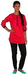 Shree Business Associates Pink Rayon Plain Ethnic Wear Top
