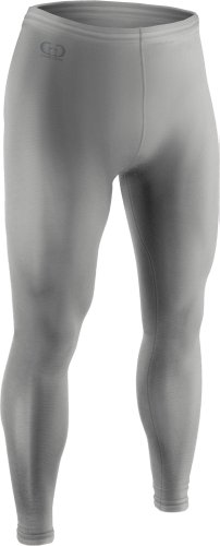 Men's and Women's Sports Compression, Ankle Length Tight-Great for Football, Baseball, Skating and Field Hockey-Made with Light Weight, Moisture Wicking, Odor Protective Fabric-Sizes SM-XXXL (Large, Grey)