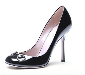Gucci Jolene Black Patent Leather Pump