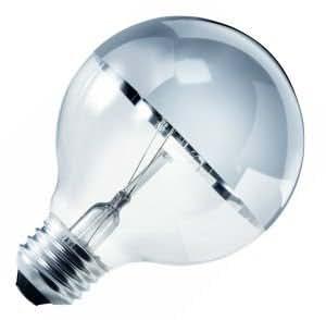 Sylvania 15638 40 WATT Decor Chrome Top Globe Bulb Clear Finish, Single