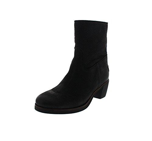 Shabbies AmsterdamShabbies 16cm zipbooty rubber BLACK sole 5cm heel Lucie - Stivali bassi con imbottitura leggera Donna , Nero (Nero (nero)), 37 EU