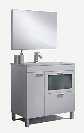 Vanity Basin + Mirror +, Mod Charles
