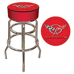 Corvette C5 Padded Bar Stool - Red 30 - Made In USA iowa state university padded swivel bar stool 30 inches high