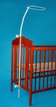 himmelstange f r baby kinderbett bett inkl befestigung himmelhalter zum klemmen. Black Bedroom Furniture Sets. Home Design Ideas