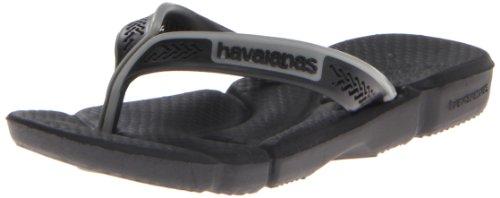 Havaianas Power Flip Flop (Toddler/Little Kid),Black/Black,25/26 Br (9-10 M Us Toddler) front-994973