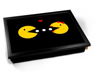 Mr and Ms Pac-Man Cushion Lap