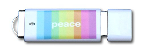 "Novelty USB Flash Drive ""Gay Pride Peace and Hippie Guitar"" 16GB 2.0 USB Key, Stick, Jump, Pen Drive - Awesome Gift for Family, Friends and Colleagues"
