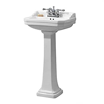 Foremost Group FL-1920-4W Foremost Series 1920 Pedestal Combo Bathroom Sink, White