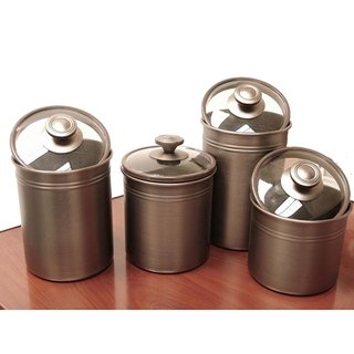 Kamenstein Brushed Bronze Canister Set