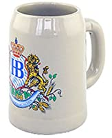 0.5 Liter Hofbrauhaus Lion Motif Ceramic Beer Stein from Hofbrauhaus