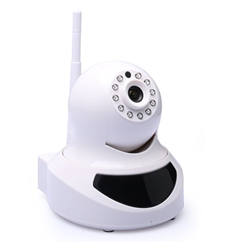 Aursen® Weiss [Free Mobile Remote Viewing] Nachtsicht IP Netzwerk Kamera Zwei-Wege Audio P2P Security IP Camera WIFI Network Überwachungskamera [ Support Alarm Ausgang] Für MAC / Windows / Linux / Android und IPhone