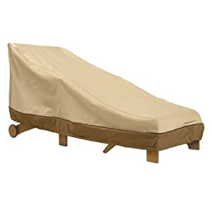 Amazon.com: Veranda Patio Chaise Cover in Pebble, Bark and Earth ...