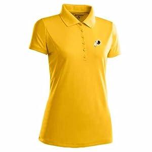 Washington Redskins Ladies Pique Xtra Lite Polo Shirt (Alternate Color) by Antigua
