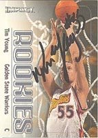 Tim Young Golden State Warriors 2000 Impact Autographed Hand Signed Trading Card -... by Hall of Fame Memorabilia