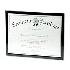 DAX Value U-Channel Document Frame with Certificates, 8.5 x 11 Inches, Black (N17000N) (8 1 2 X 11 Document Frame compare prices)