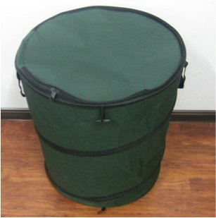 useful uh gb170 30 gallon hard shell bottom pop up gardening bag or camping trash can with zip. Black Bedroom Furniture Sets. Home Design Ideas