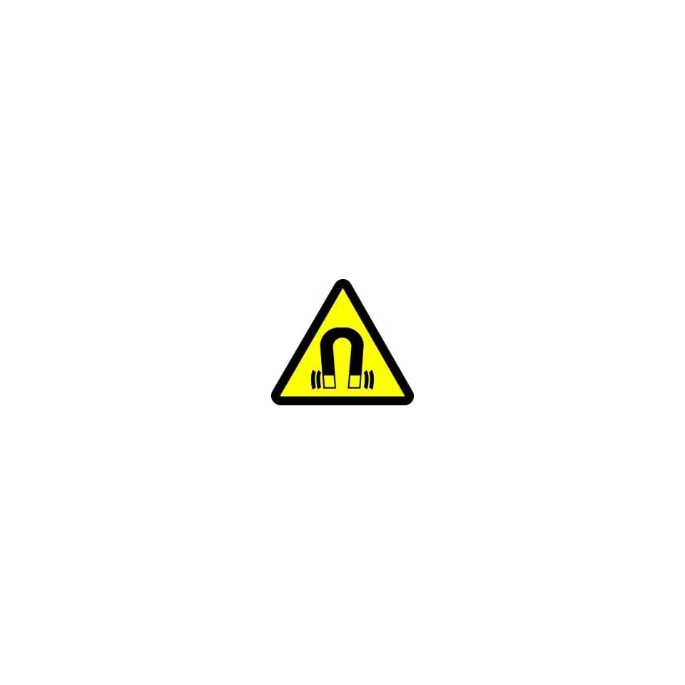 WARNING Labels STRONG MAGNETIC FIELD HAZARD 8 Adhesive Dura Vinyl