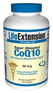 Life Extension - Super Ubiquinol Co Q 10, 50 mg, 100 softgels