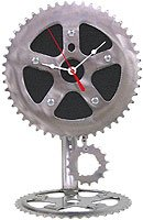 Recycled Bicycle Parts Desk Pendulum Clock