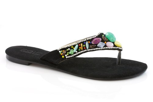 Cheap Unze Women Multicolored Beads Open-Toe Summer Party, Evening, Wedding, Beach Slipper – 9f2011-10 (B0043HXQGQ)