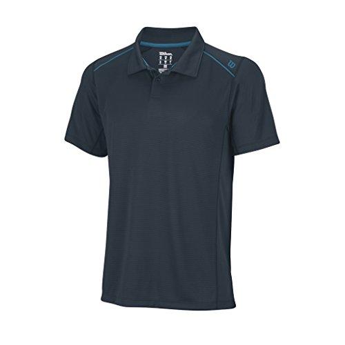 Wilson, Polo da tennis Uomo Nvision Elite, Grigio (Coal/Ultramarinee), S