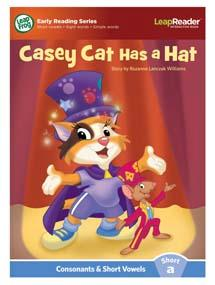 """Casey Cat Has a Hat"" features short vowel ""a"" sound."