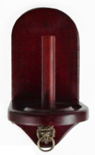 New Wall Mount Pool Table Cone Chalk Holder, Mahogany Finish