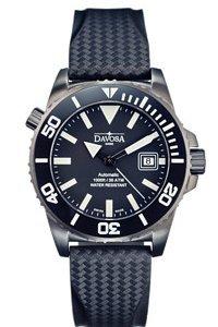 Davosa 16149880 - Reloj analógico automático para hombre con correa de caucho, color negro