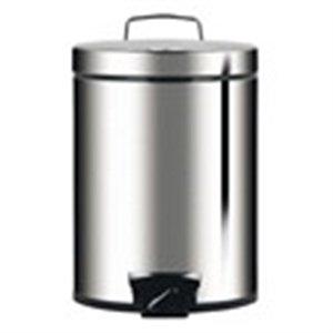 Brabantia Pedal Bin 5L Brilliant Steel - Plastic Bucket - (389146)