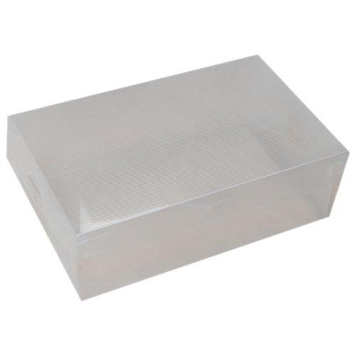 TOOGOO(R) 6x Boite a chaussures en plastique pliable - transparent
