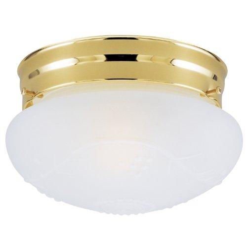 Westinghouse 66678 - 1 Light Polished Brass Ceiling Flush Mount Light Fixture