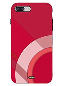 Material Design Red - Hard Back Case Cover for iPhone 7 - Superior Matte Finish - HD Printed Cases and Covers