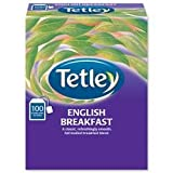 Tetley Tea Bags String and Tag English Breakfast Ref 1244B - Boxed 100