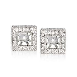 1.05 ct. t.w. Diamond Earring Jackets in 14kt White Gold