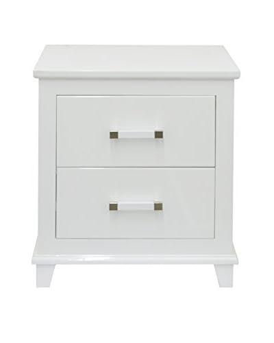 Three Hands 2-Drawer Wood Cabinet