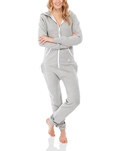 ZIPUPS Mono-Pijama Clean Cut Gris Claro