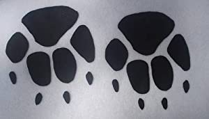 Cat Paw Black Iron-On Fabric Transfer