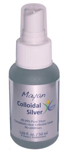 Mayan Colloidal Silver: 1.69oz (50 ml) Fine Mist Spray-Top