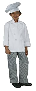 Chef Works CWBP-BWC Kid's Small Check Chef Pants, Black/White, X-Small