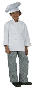 Chef Works CWBP-BWC Kid's Small Check Chef Pants, Black/White, Medium