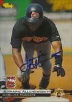 Jermaine Allensworth Carolina Mudcats - Pirates Affiliate 1994 Classic Autographed... by Hall of Fame Memorabilia