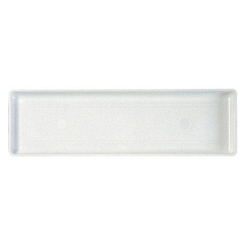 Novelty 10182 Plastic Flower Box Tray, White, 18-Inch Length (Plastic Flower Box compare prices)