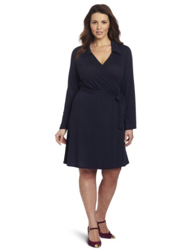 Star Vixen Women's Plus-Size Full Wrap Dress,