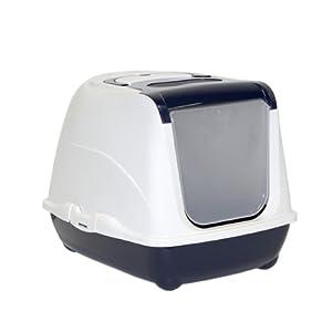 Moderna Flip Top Blue Enclosed Cat Litter Box