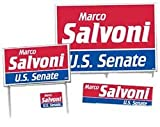 Min Qty 1 Campaign Package Deals - 500 Yard Signs, 24 Corrugated Signs, 1,500 Bumper Stickers &