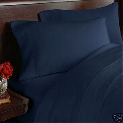 Solid Navy 300 thread count Twin Size (single